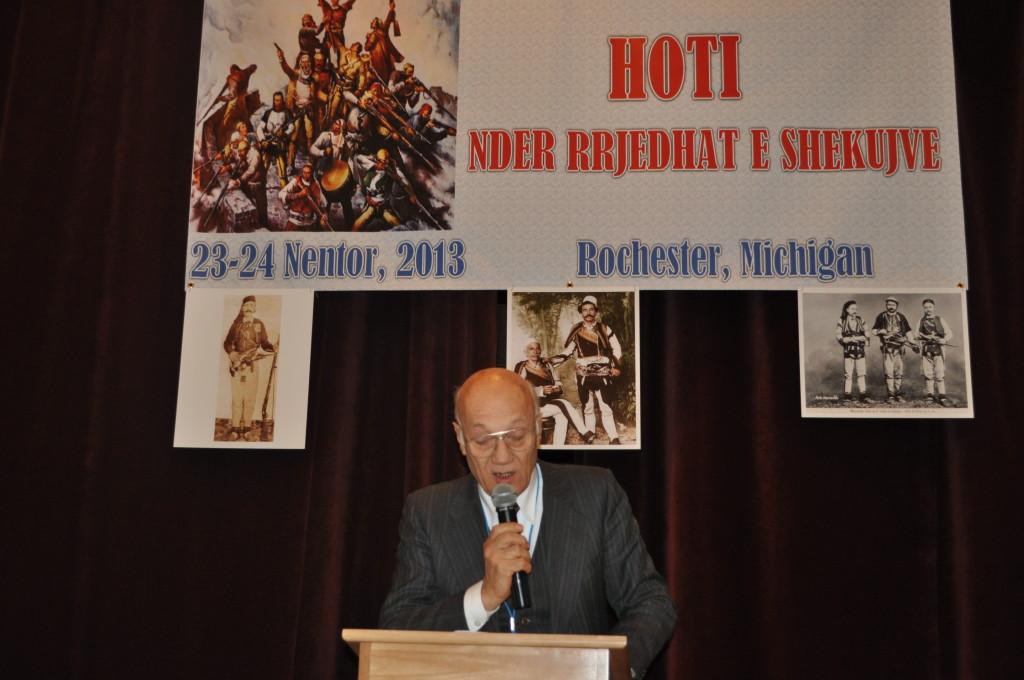 Prof. Kolec Topalli në Konferencën për Hotin