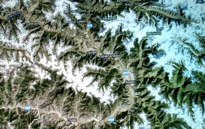 Hartë e Luginës së Hunzës (Hunza Valley)