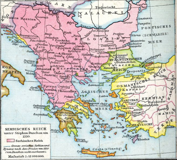 Ballkani sipas Endrrës së Necartanjes.