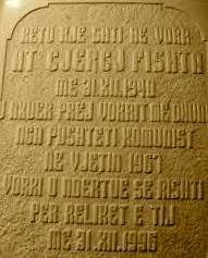 Pllaka te Varri i Fishtës