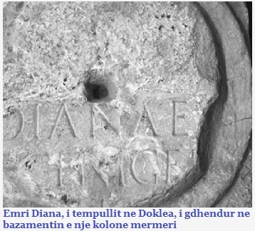 Emri Diana - i gjetur ne Doklea