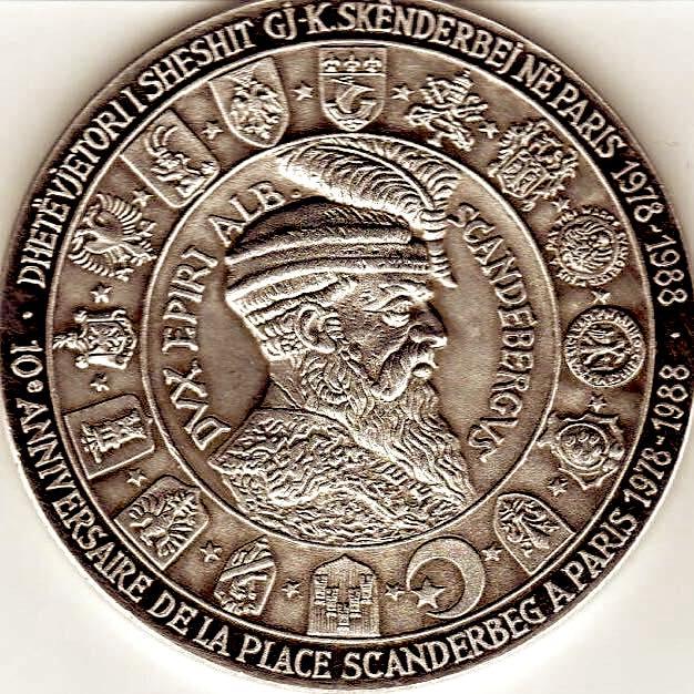 Medalja e Skënderbeut - e përgatitur nga Isa Ndreu (pjesa para)