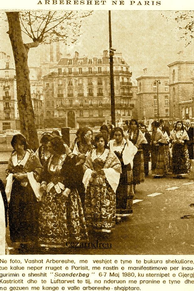 Manifestimi Arbëresh në Paris - 6 Maj 1980