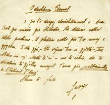 Letër e Lazër Radit dërguar Qemal Stafës 1936