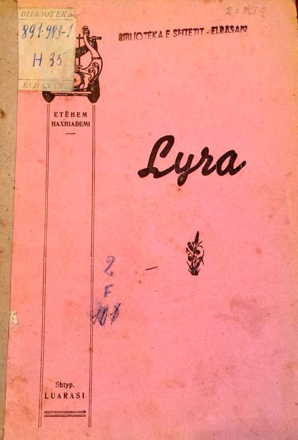 Et'hem Haxhiademi - Vepra poetike - Lyra 1939