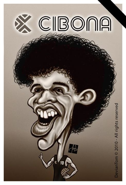 Drazhen Petroviç - Cibona - Karikature