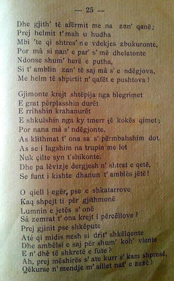 """Haxhiademi - Fragmen nga elegjia """"Nata e zeze"""""""