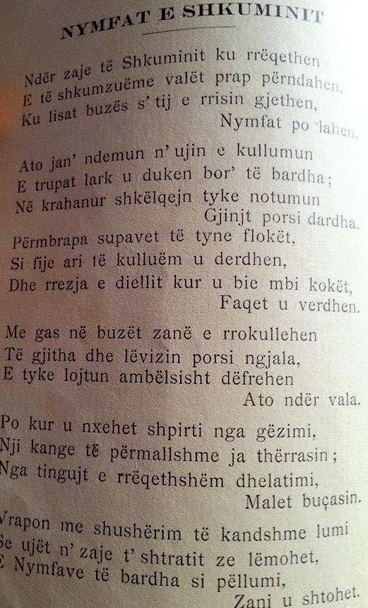 Poema Nymfat e Shkuminit (Lyra 1939)