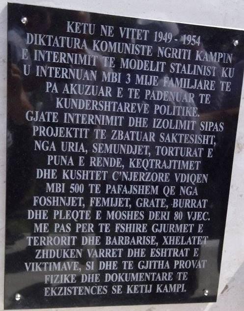 Pllaka Përkujtimore e Kampit të Tepelenës