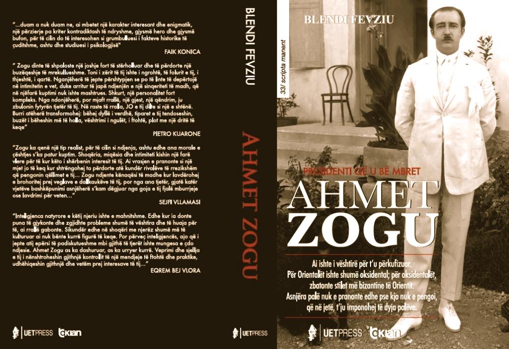 Blendi Fevziu - Ahmet Zogu - Kopertina