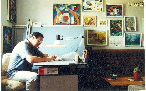 Zef Nacaj ne Studion e tij