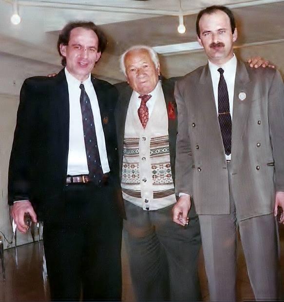 Dr. Lazër Radi me Pashk Gjergjajn dhe Gjok Palokën - Zvicër 1994