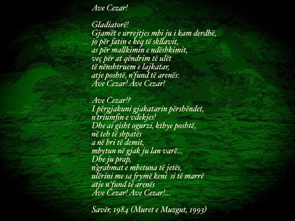 Ave Cesar - poezi nga Lazer Radi