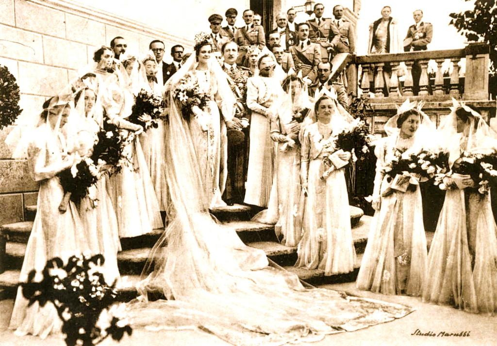 Dasma e Ahmet Zogu me Geraldina Apogny 1938