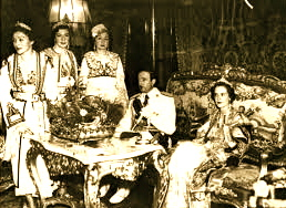 Dasma e Ahmet Zogu me Geraldina Apogny dhe motrat 1938