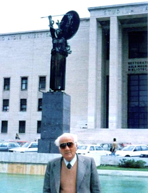 Lazër Radi në Universitetin ku studioi - La Sapienza - Romë 1991
