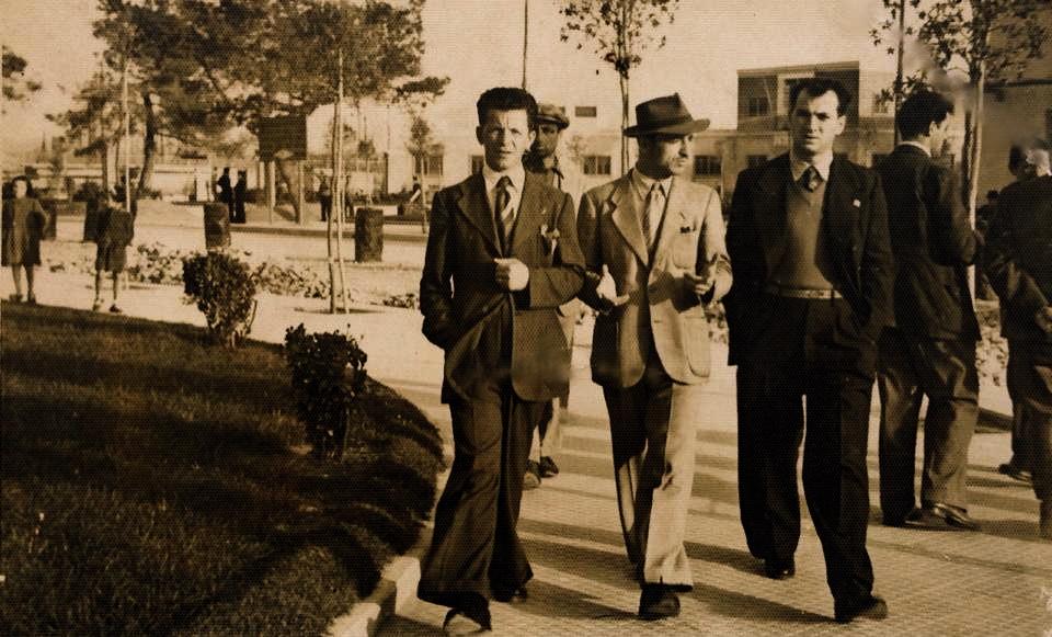 Lazër Radi, Balto Radi dhe dhe Jani Lili - Durrës 1938