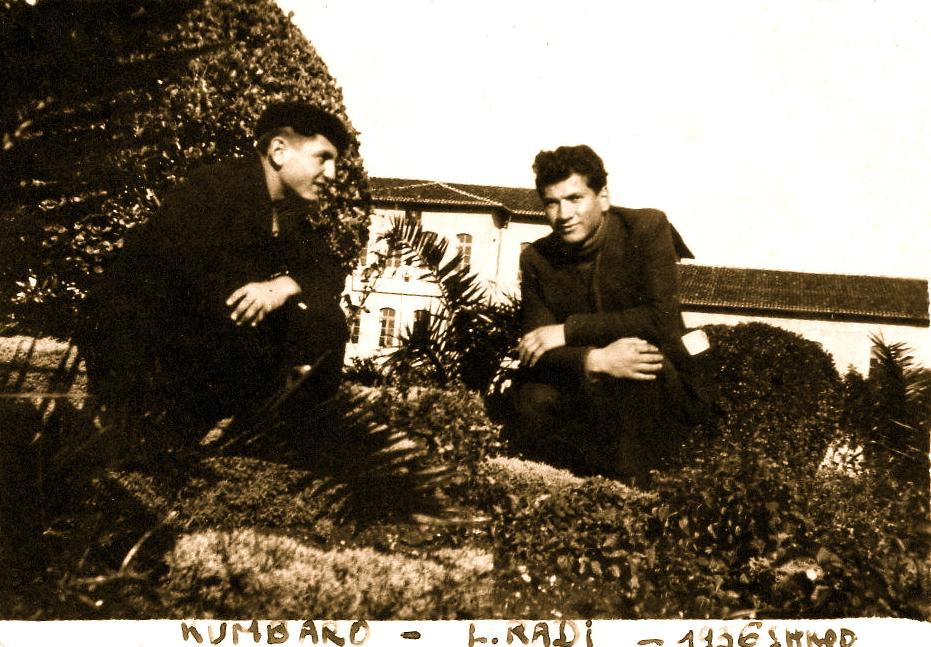 Lazër Radi e Hajredin Kumbaro shokë gjimnazi - Shkodër 17 dhjetor 1935