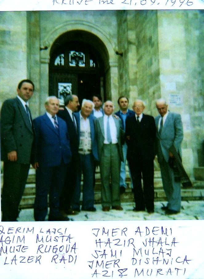Qerim Lajçi, Agim Musta, Mujё Rrugova, Lazёr Radi, Imer Ademi, Hazir Shala, Sami Mulaj, Ymer Dishnica, Azis Murati - Krujё, 21 shtator 1996
