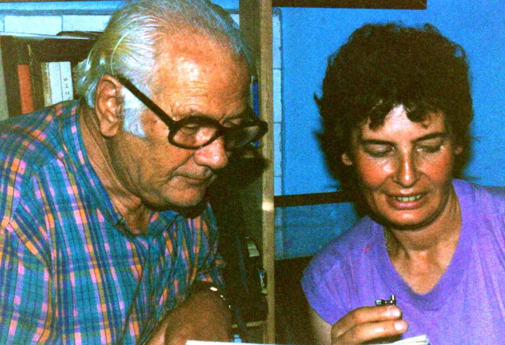 Lazёr Radi nё qoshen e tij tё punёs nё nji intervistё me gazetaren Luiza Musta - Tiranё,  gusht 1992