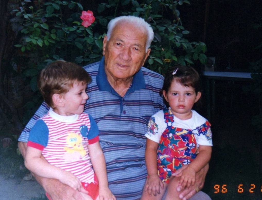 Lazёr Radi me nipin Kristi dhe mbesёn Ana, - 21 qershor 1996