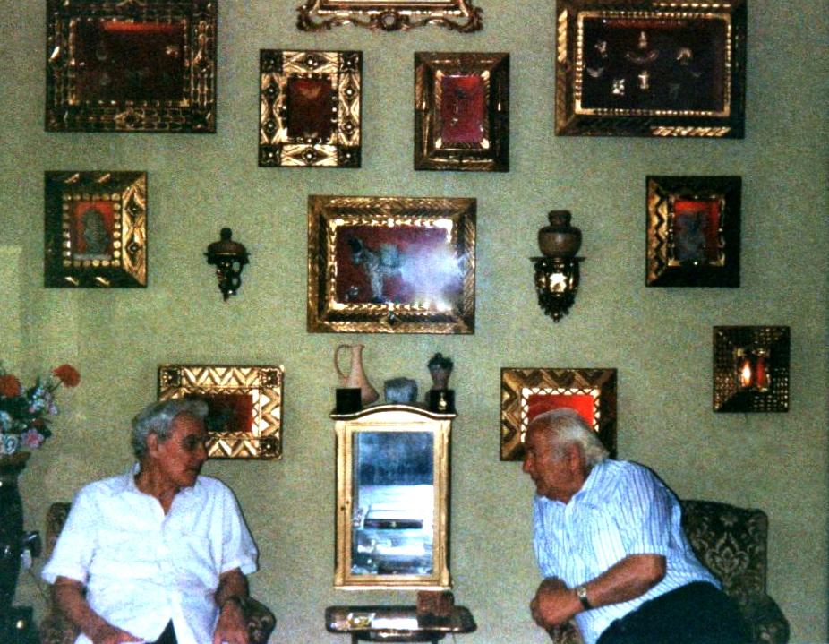 Lazri dhe Ambasadori Renzo Falaschi nё bisedё pёr Kosovёn - Romё 10 korrik 1991