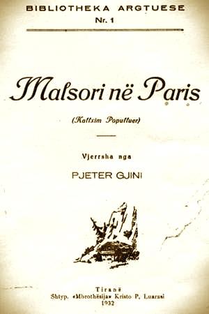 Pjetër Gjini - Malsori në Paris