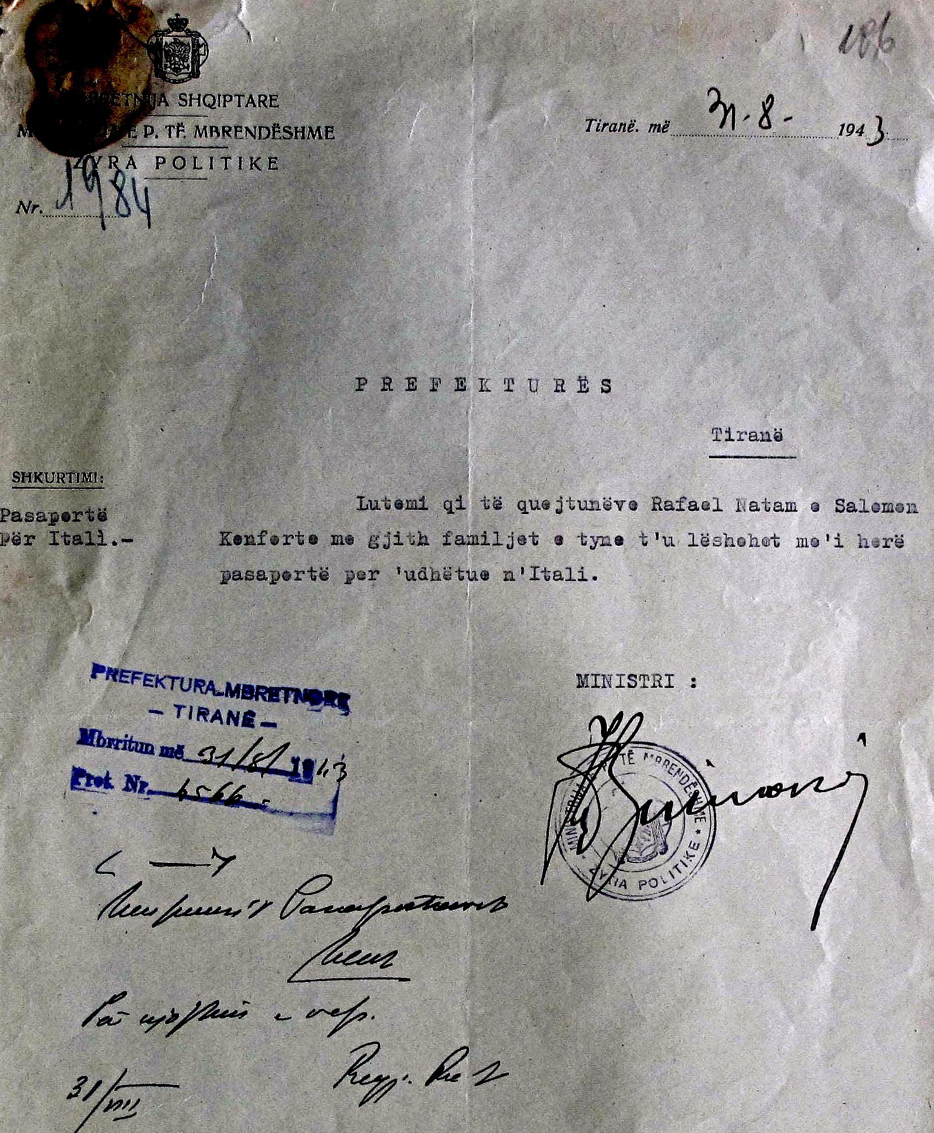Kol Biba - Urdhër Pajisje me Pasaportë