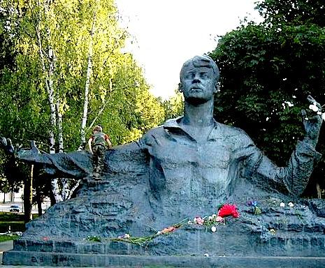 Monumentit i Sergej Esenin ne Rjazan