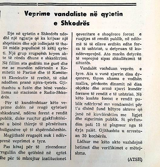 """""""Zeri i Popullit"""" - per Shkodren 14 dhjetor 1990"""
