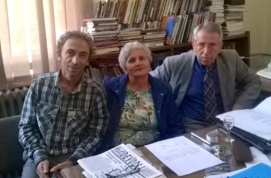 Me lirikun korçar Skënder Rusi dhe poetin Alfred Molloholli