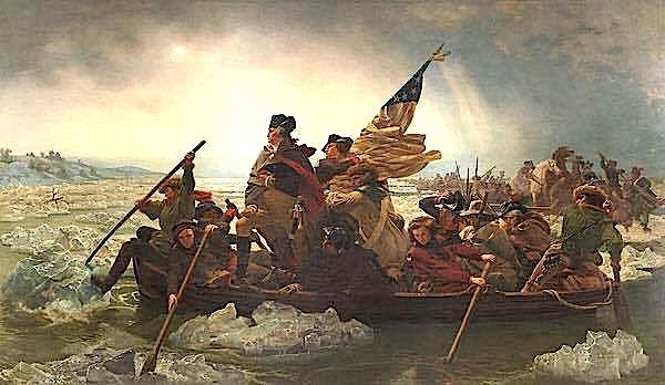 """""""Washington kapercen lumin Delaware"""" - Emanuel Leutze"""