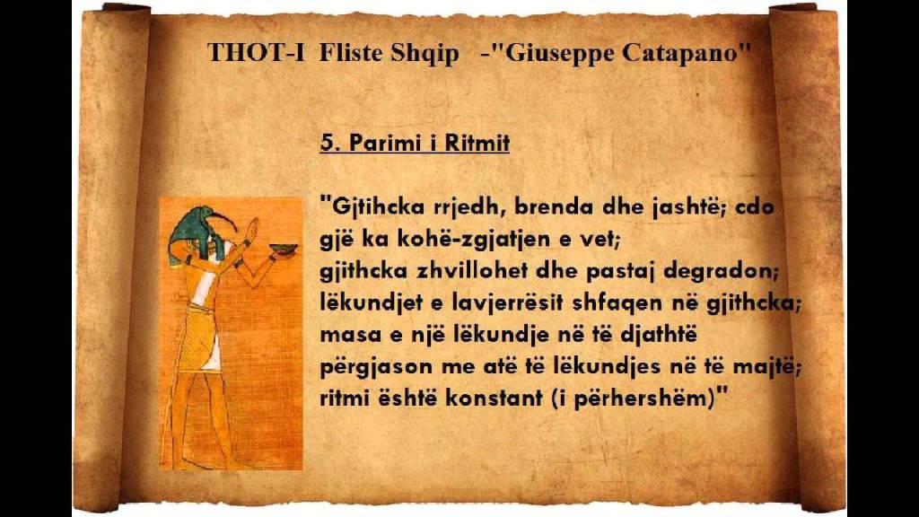 Thot-i fliste Shqip - Giuseppe Catapano