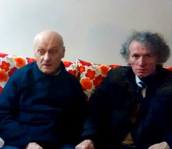 Kasem Trebeshina dhe botuesi i tij në Prishtinë Abdullah Zeneli