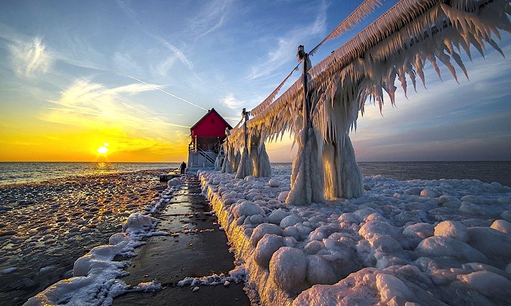 Fari i akullt i st. Joseph - Michigan