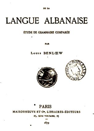 Louis Benloew - Lingue Albanaise 1879