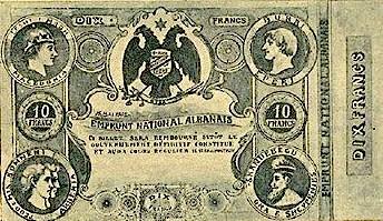 10 Franka Shqiptare 1905