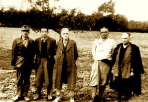Kreret e Ballit Kombtar Ekrem Peshkopi, Vasil Andoni, Mid'hat Frasheri, Ali Klelcyra e Koco Muka (Photo Amery).