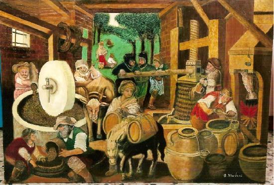 Pikture e nji Frantojo ku nxirrej vaji i Ullirit