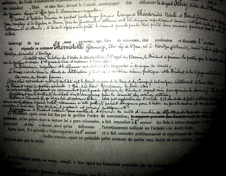 Dokumente te denimit te Themistokli Germenjit