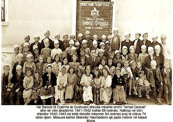 "Shkolla ""Ismail Qemali"" Banice e Eperme - Gostivar (1942-1943)"