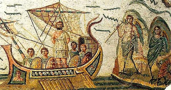 Udhtimi i Uliksit - Mozaik i lashte