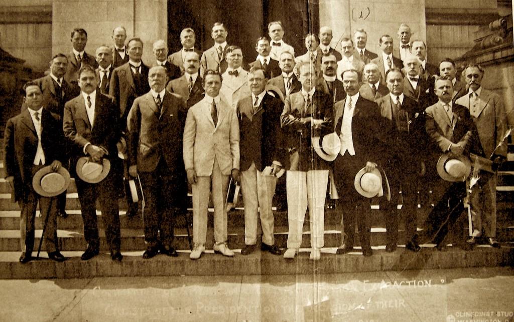 Presidenti Uillson dhe Fan Noli midis përfaqësuesve të shteteve të tjera në ShBA