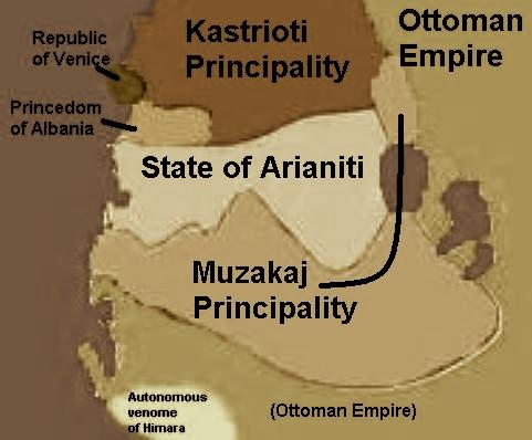 Principata e Muzakajve dhe Shteti i Arianiteve ne shek. XV