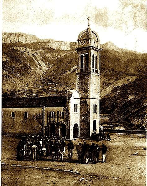 Abacia e Oroshit në 1905, pamje nga jashtë e saj.