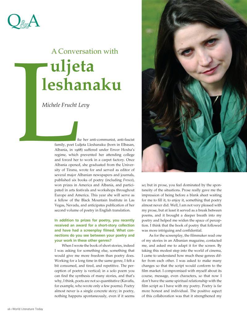 Lleshanaku Interview