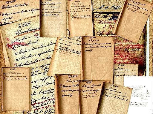 Shkrime e dorëshkrime të Gjeçovit