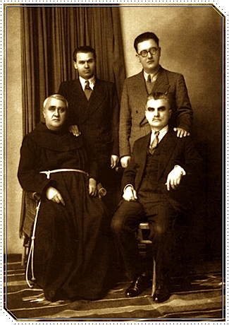 Katër gur themeli të binasë sonë kombëtare, qytetnuese, letrare, politike, diplomatike.... Lasgush Poradeci dhe Ernest Koliqi. At Gjergj Fishta dhe Asdreni.