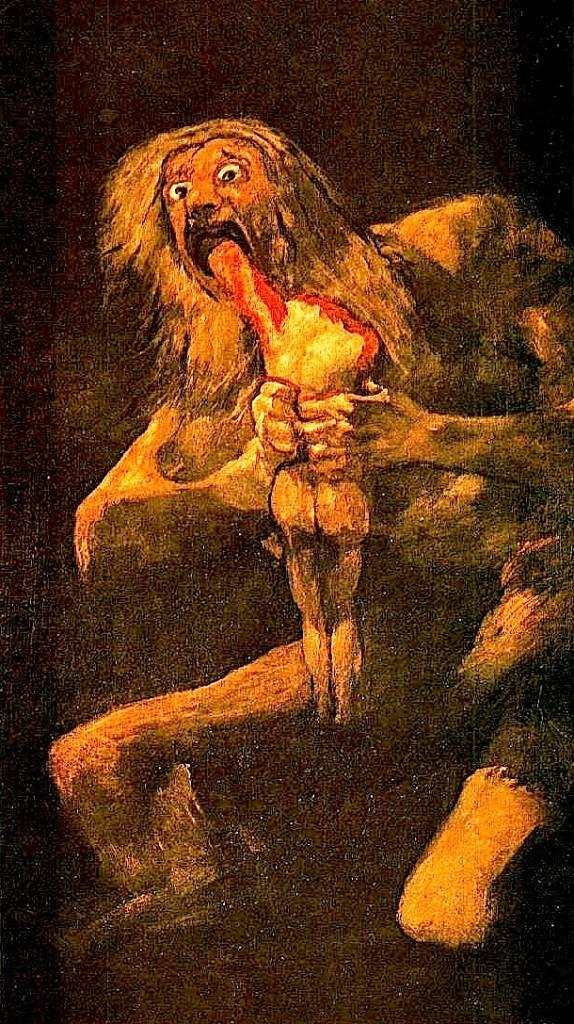 Francisco Goya - Saturni ha Bijtë e vet...