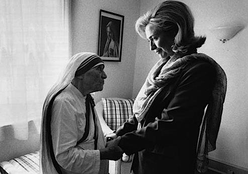 Mather Teresa dhe Hillary Clinton